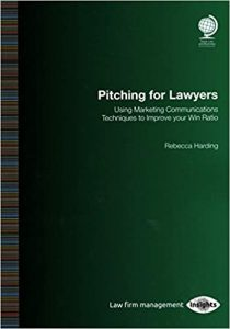 Picture of the book Pitching for Lawyers